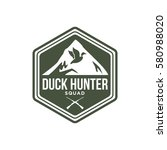 duck hunt shooting club logo... | Shutterstock .eps vector #580988020
