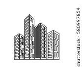 city buildings symbol icon... | Shutterstock .eps vector #580997854