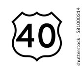 us route 40  filled with white | Shutterstock .eps vector #581000314
