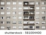 typical old panel apartment... | Shutterstock . vector #581004400