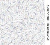 seamless pattern of knitting... | Shutterstock .eps vector #581005549
