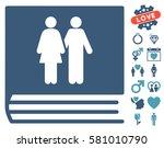 family album icon with bonus... | Shutterstock .eps vector #581010790