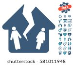 divorce house pictograph with... | Shutterstock .eps vector #581011948