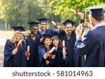 education  graduation ... | Shutterstock . vector #581014963