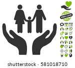 family care hands pictograph... | Shutterstock .eps vector #581018710