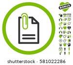 attach document icon with bonus ... | Shutterstock .eps vector #581022286