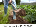 farming  gardening  agriculture ... | Shutterstock . vector #581026003