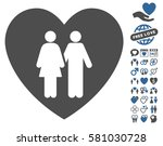 family love heart pictograph... | Shutterstock .eps vector #581030728