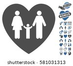 family love heart pictograph... | Shutterstock .eps vector #581031313