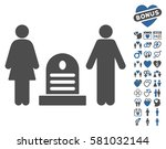 family cemetery icon with bonus ... | Shutterstock .eps vector #581032144