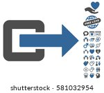 exit direction pictograph with... | Shutterstock .eps vector #581032954