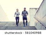 fitness  sport  exercising ... | Shutterstock . vector #581040988