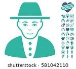 jew icon with bonus romantic... | Shutterstock .eps vector #581042110