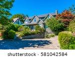 big custom made luxury house... | Shutterstock . vector #581042584