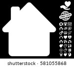 house icon with bonus passion... | Shutterstock .eps vector #581055868
