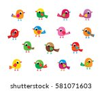 Cute Bird Vector Set