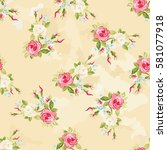 seamless floral pattern with... | Shutterstock .eps vector #581077918