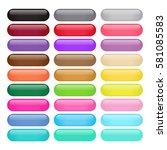 colorful round rectangle glossy ... | Shutterstock .eps vector #581085583