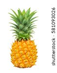 isolated pineapple on white... | Shutterstock . vector #581093026