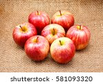 Gala Apples Isolated On Brown...