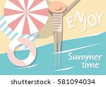 vector flat style illustration... | Shutterstock .eps vector #581094034