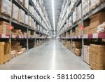 blur background of department... | Shutterstock . vector #581100250