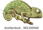 design of chameleon. vector... | Shutterstock .eps vector #581100460