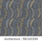 seamless pattern with hand... | Shutterstock .eps vector #581101540
