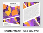 abstract vector layout... | Shutterstock .eps vector #581102590