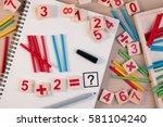 educational kids math toy... | Shutterstock . vector #581104240