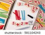 educational kids math toy... | Shutterstock . vector #581104243