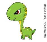illustration of cute cartoon of ... | Shutterstock . vector #581114500