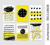 template  banners. vector brush ...   Shutterstock .eps vector #581118838