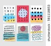 template  banners. vector brush ... | Shutterstock .eps vector #581118853