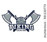 viking sport logo design... | Shutterstock .eps vector #581120773