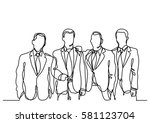 continuous line drawing of... | Shutterstock .eps vector #581123704