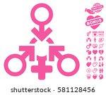 triple penetration sex... | Shutterstock .eps vector #581128456