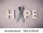 hope wooden letter with grey