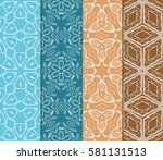 set of decorative floral... | Shutterstock .eps vector #581131513