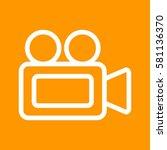video camera | Shutterstock .eps vector #581136370