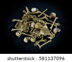 Pile Of Skulls And Bones On Th...