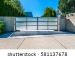 Modern Gates With Driveway To...