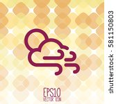 weather icon. flat style for... | Shutterstock .eps vector #581150803