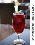Small photo of wine glass(sangria)