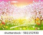 spring. background. | Shutterstock .eps vector #581152930