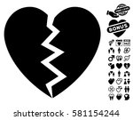 broken heart pictograph with... | Shutterstock .eps vector #581154244