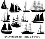 illustration with ship... | Shutterstock .eps vector #581154493
