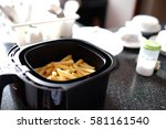home made french fries in... | Shutterstock . vector #581161540