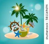 summer vector element  summer... | Shutterstock .eps vector #581169694