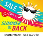 summer vector element  summer...   Shutterstock .eps vector #581169940